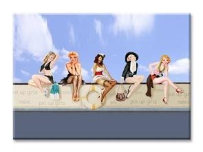 Apolena Pin-Up Kızları Kanvas Tablo
