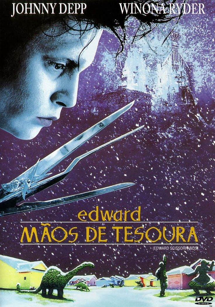 Um filme de Tim Burton com Johnny Depp, Winona Ryder : Peg Boggs (Dianne Wiest) é uma vendedora da Avon que acidentalmente descobre Edward (Johnny Depp), jovem que mora sozinho em um castelo no topo de uma montanha, criado por um inventor (Vincent Price) que morreu antes de dar mãos ao estranho ser, q...