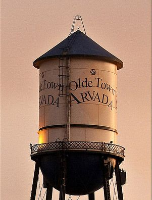 the water tower -Arvada Colorado... right down the road from our house!!