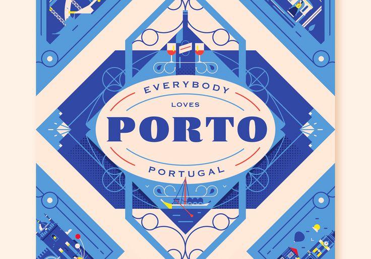 다음 @Behance 프로젝트 확인: \u201cEverybody Loves Porto\u201d https://www.behance.net/gallery/54846033/Everybody-Loves-Porto