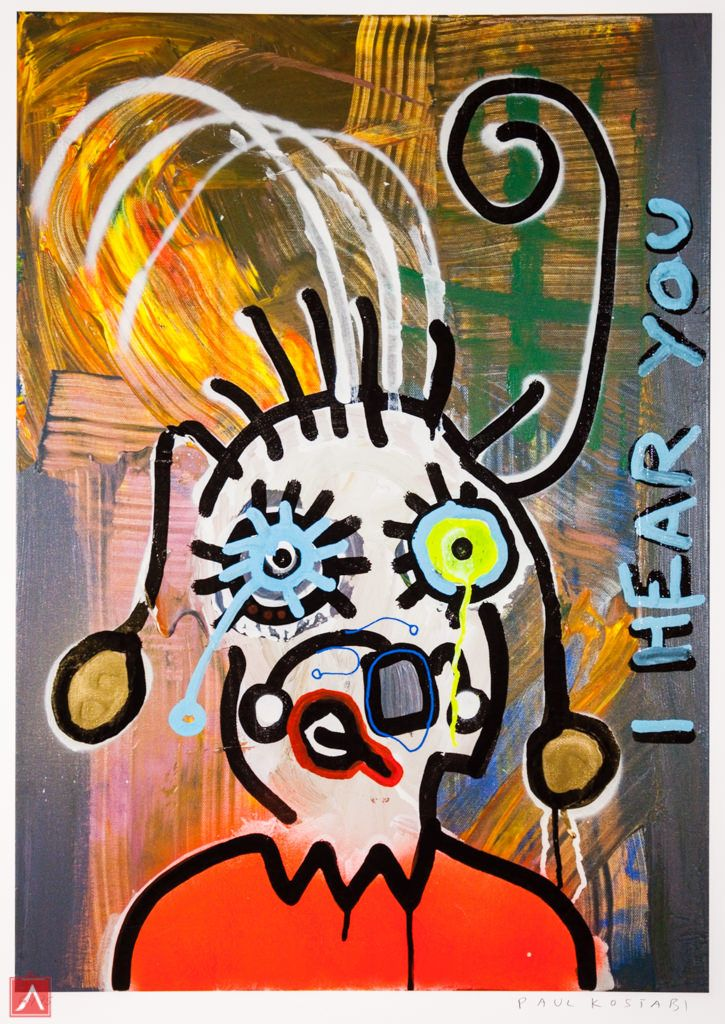 """Paul Kostabi: """"Mr. What"""" (2013) is a handsigned & numbered gliclée."""