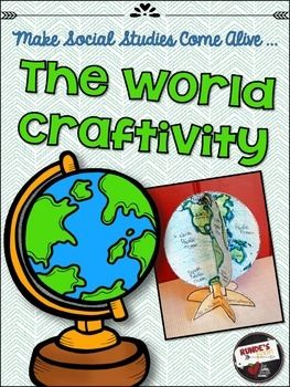 Make Social Studies come alive with this fun 3D biography craftivity.  This globe craftivity can be used to help students study and learn the continents and oceans of the world.     There are two different views of the world map:  the Western hemisphere and the Eastern hemisphere.