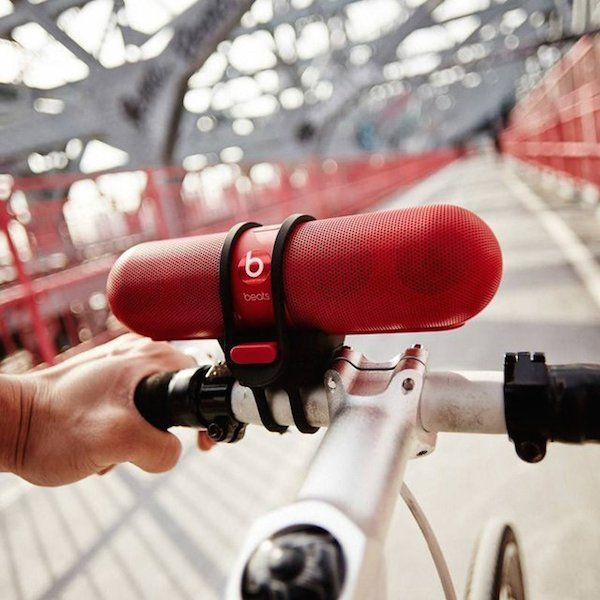 Beats Pill Bike Mount / Never miss out on carrying your favorite set of Beats Pill speakers while bike riding with this custom-made Beats Pill Bike Mount. http://thegadgetflow.com/portfolio/beats-pill-bike-mount/