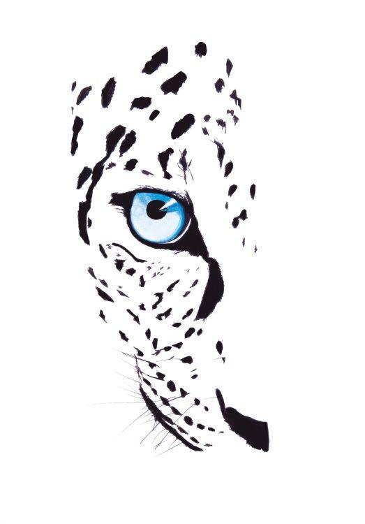 Leopard in the Snow (2015) Akwarele by Katie Ruth Jackson | Artfinder