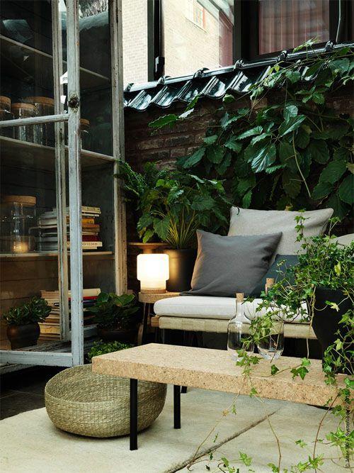 Outdoor sitting room.