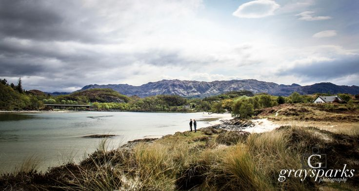 Weather rumblings- Sands of Morar.  By graysparks photography, Scotland