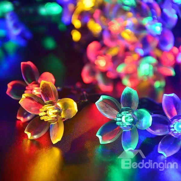 Gorgeous Solar LED Peach Blossom 7 Meter 50 Lights Indoor Outdoor LED  String Lights