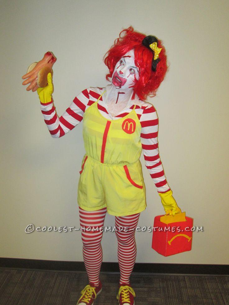 Super Creepy Serial Killer Ronald McDonald Costume... Coolest Halloween Costume Contest