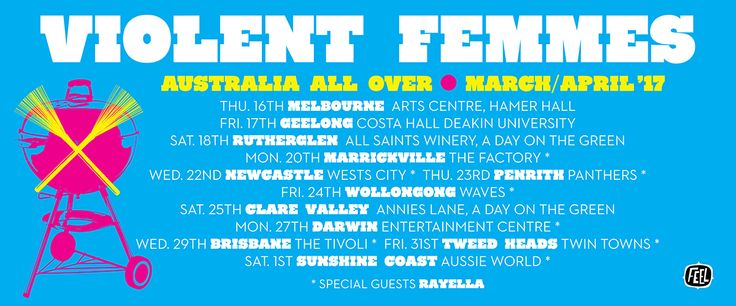 """http://medianews.foghornrecords.net/ The Violent Femmes are BACK. Last year they toured Australia afterthe release of their first record in 15 years: """"We Can Do Anything"""" Now they're returning this March and April to promote their new live album (out soon). Get """"We Can Do Anything"""" here and prepare for the tour! https://itunes.apple.com/au/album/we-can-do-anything/id1071962222"""