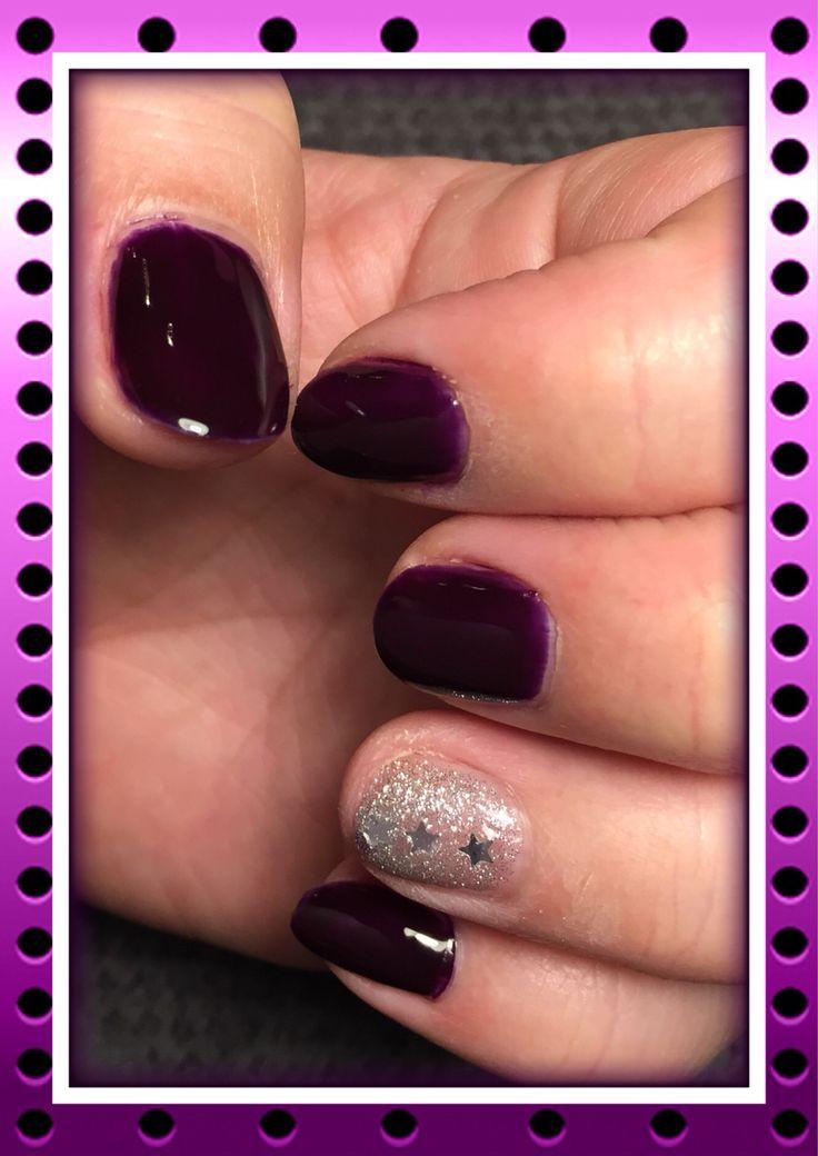 Bordeaux met fabulous silver. #nails #bypurplenails