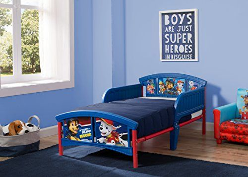 Delta Children Plastic Toddler Bed, Nick Jr. PAW Patrol //http://bestadjustablebed.us/product/delta-children-plastic-toddler-bed-nick-jr-paw-patrol/