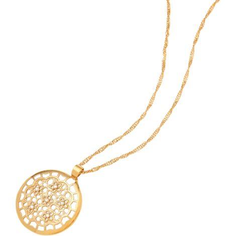 Gargantilla con motivos en flor de la marca BECLAY.  www.cristianlay.com