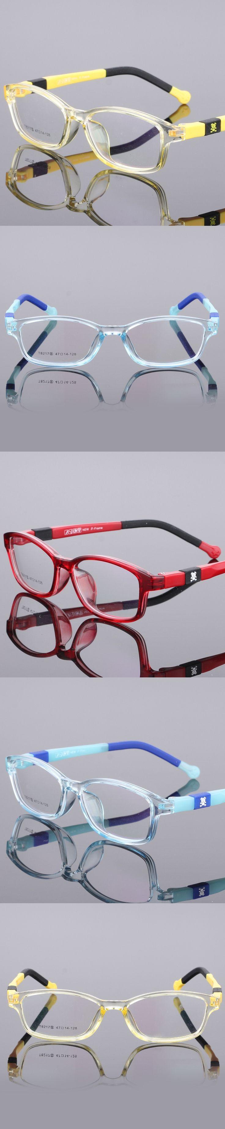 TR90 Trumpet Glasses Boy Girl Eyeglasses Lightweight Flexible Eyewear Frame Children Prescription Glasses frame 8217