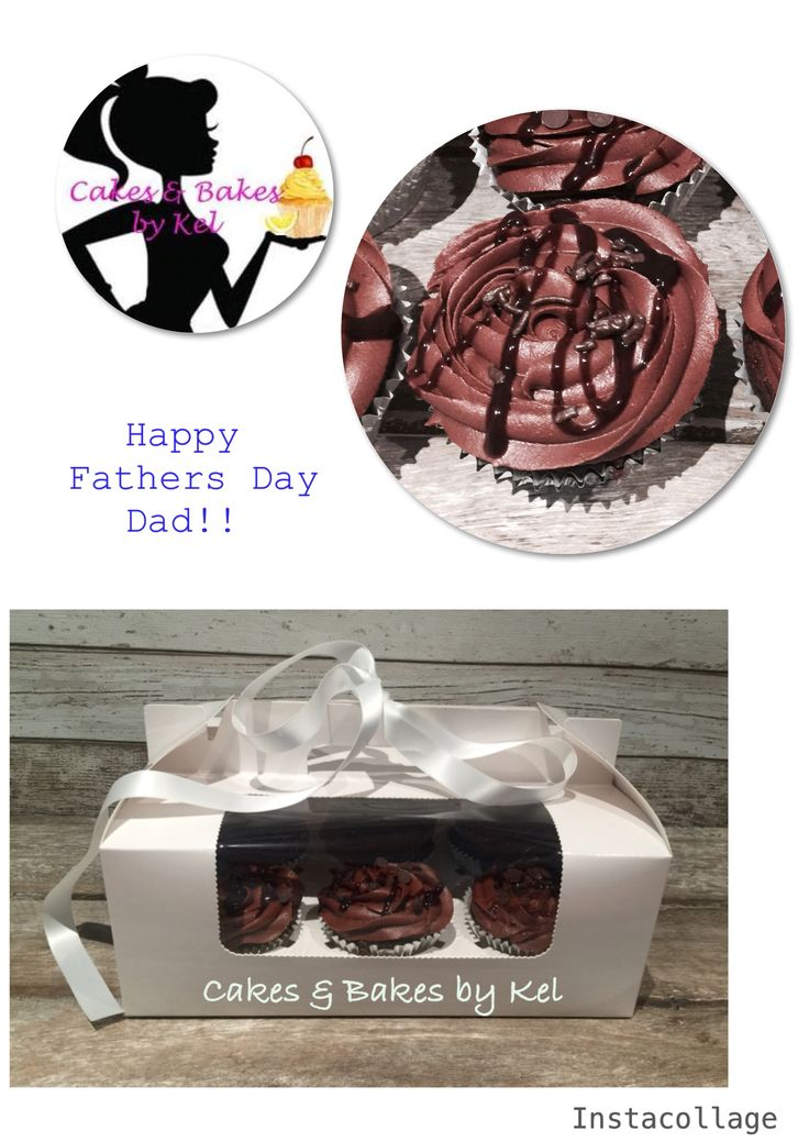 Delicious chocolate cake with piped chocolate mint frosting, a drizzle of chocolate sauce and sprinkles!!!  A great gift idea for Dads who have everything, or for a casual coffee catch up