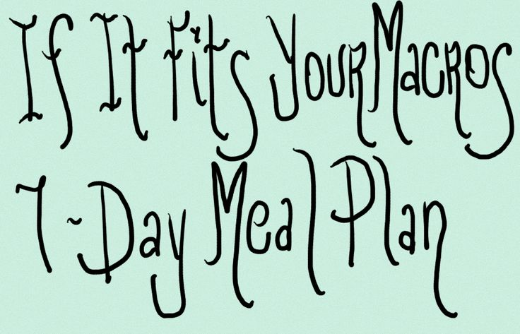 Full 7 Days of If It Fits Your Macros Journal / Meal Plan!