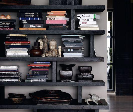 From interior blog Trendenser - Book shelf still life