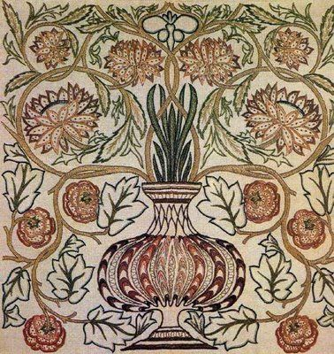 William Morris Flower Pot tile.