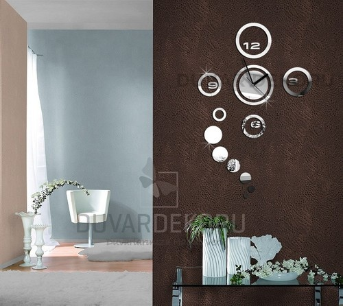 For All Every Home Wall Decoration Mirror Wall Clock Rings | EBay