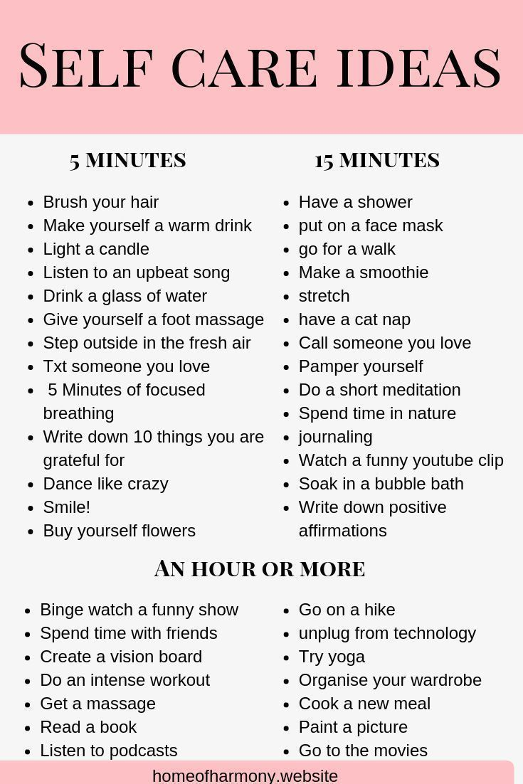 Pin This List Save This List As A Reference For Self Care Ideas Even When You Are Short On Time Self Care Activities Self Improvement Self Improvement Tips
