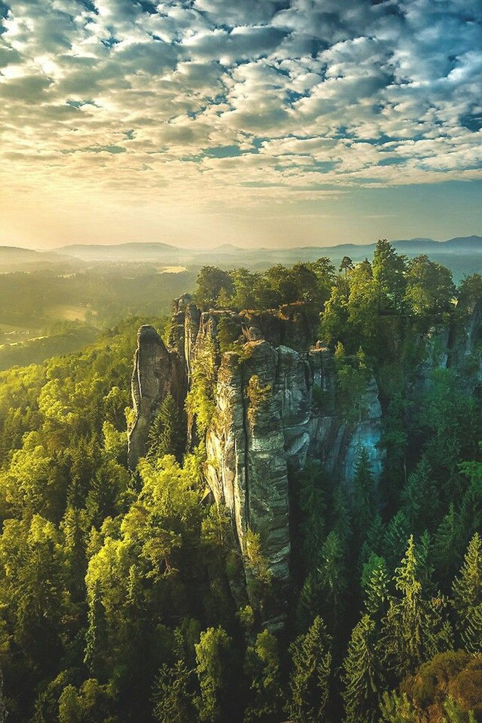 elbe sandstone mountains germany exotic landscapes