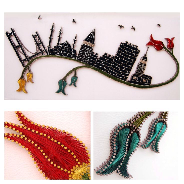 Filography Art / Wall Accessories / Nails and colorful wires