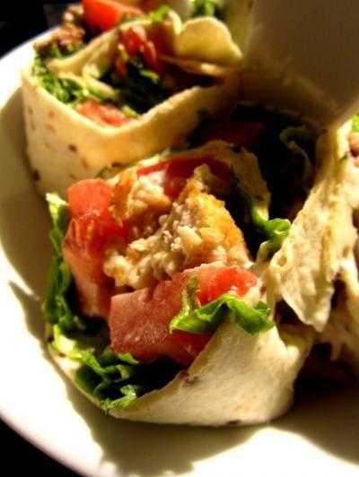 Recette - Wrap au poulet croustillant sauce au raifort  - Proposée par 750 grammes