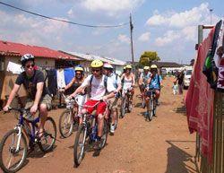 Cycle through Soweto, Johannesburg