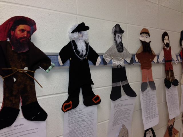 5th Grade Explorer Unit-- Students were each assigned an explorer.  They researched facts and created a visual representation of their explorers.