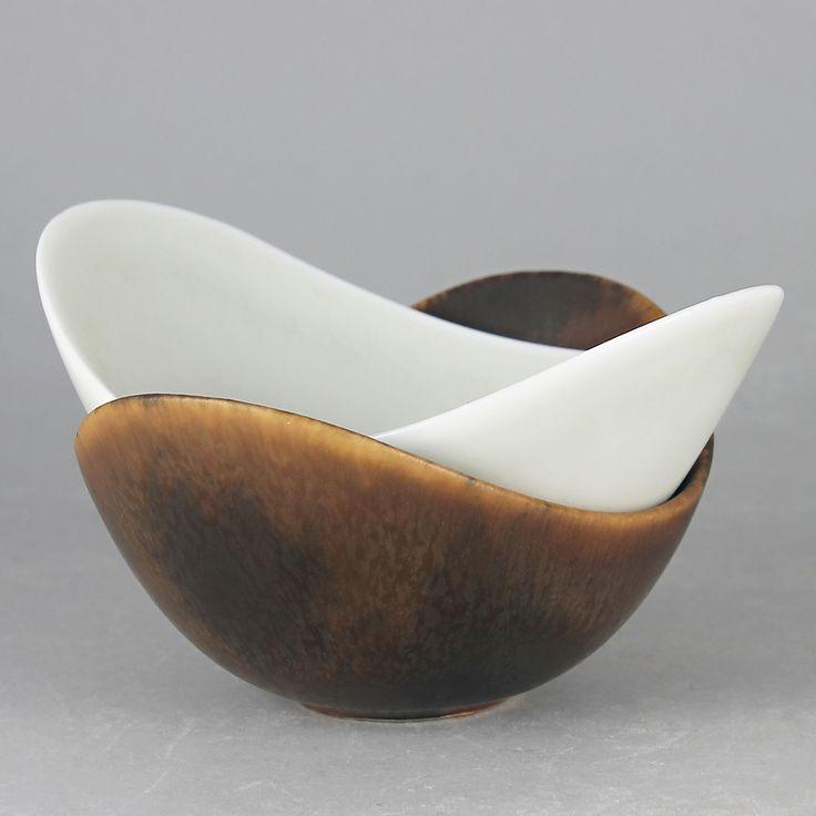 Gunnar Nylund (ARO 1950s) Two Amazing Undulating Bowls