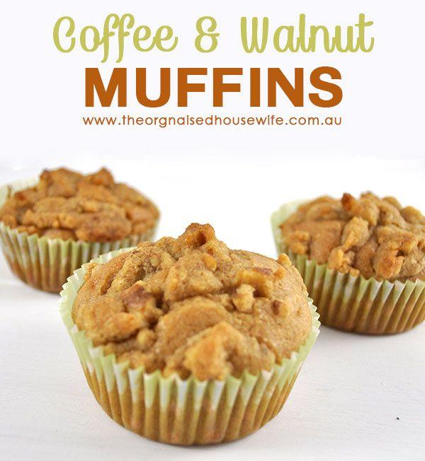Coffee and Walnut Muffins