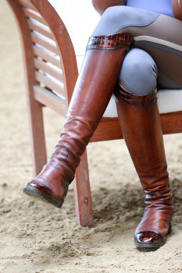 Silvia Rizzo's Secchiari boots - antique brown w/ croc. GORGEOUS!