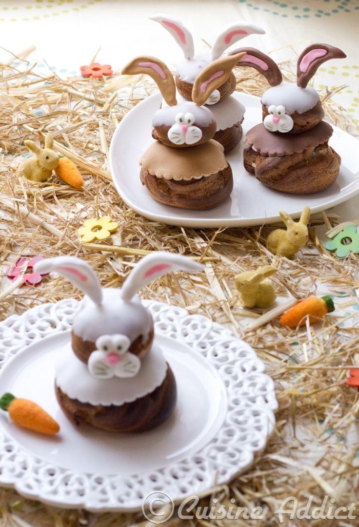 Sweet Easter dessert bunnies.