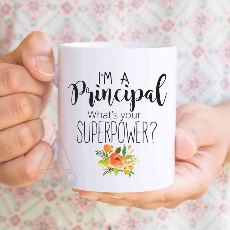 "school principal gift ""I'm a principal, what's your superpower?"" mug, principal appreciation gift, gift for principal from teacher MU193 by artRuss on Etsy"