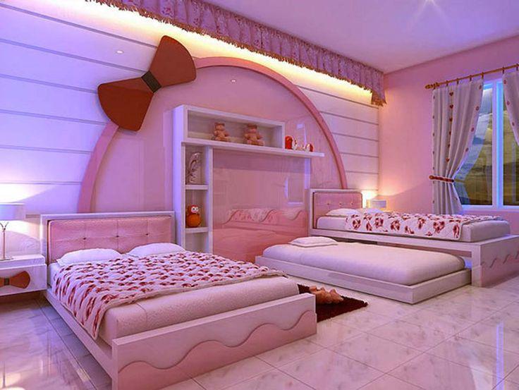 Amazing Bedroom Hello Kitty Room Design ~ http://www.lookmyhomes.com/hello-kitty-room-designs-ideas-for-girl/