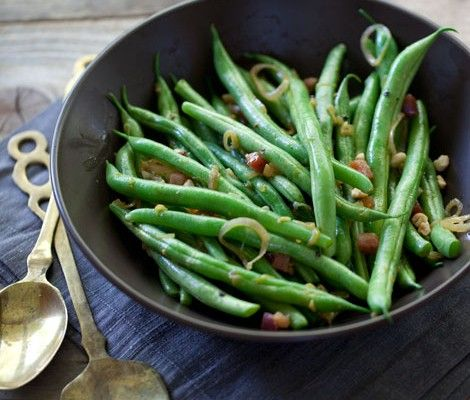 Green beans are a favorite side dish, and can be quickly steamed for an easy side dish. It's easy to make them extra special by adding butter and pancetta. Pancetta is the Italian version of salty bacon, but in a smoked tubular version that makes it the perfect candidate forGet the Recipe