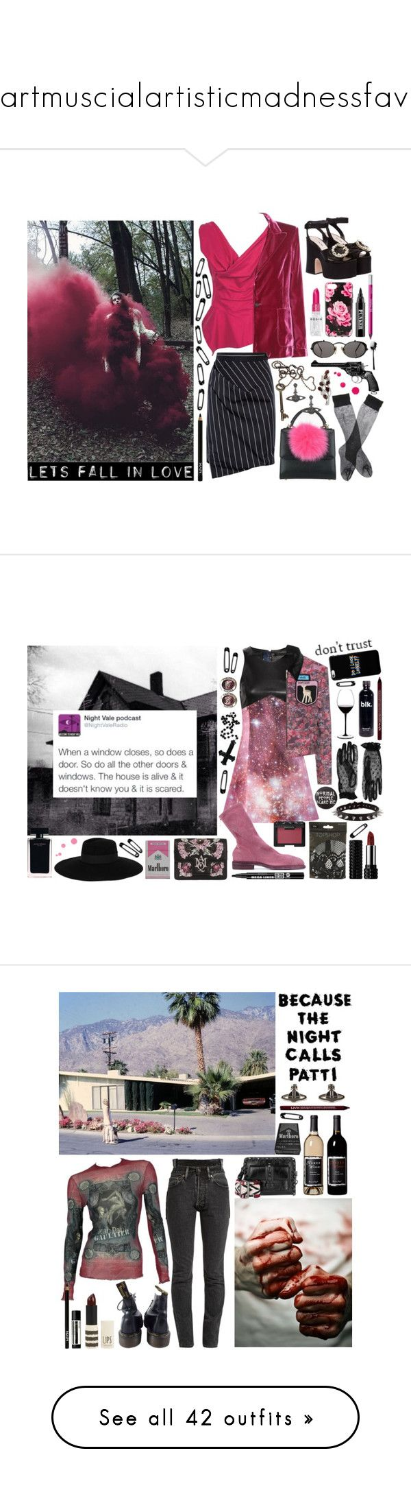 """""""Painartmuscialartisticmadnessfavlife"""" by nothingisnormal ❤ liked on Polyvore featuring Vivienne Westwood, Tom Ford, Brandy Melville, Rodin, Les Petits Joueurs, NYX, Vivienne Westwood Anglomania, Miu Miu, Kate Spade and Jean-Paul Gaultier"""