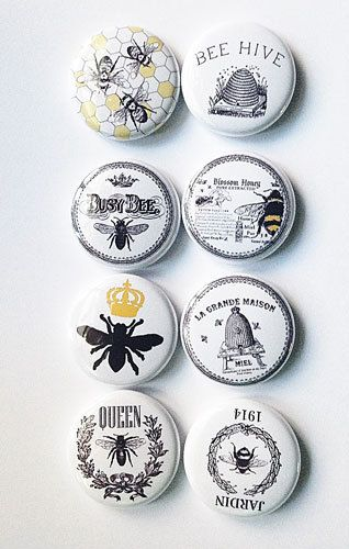 Vintage Bee Flair by aflairforbuttons on Etsy