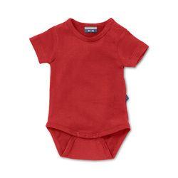 Infant bodysuit Hypnotizing Red. Natural basic for baby & toddlerhttp://silkylabel.nl/rompertjes/romper-korte-mouw.html