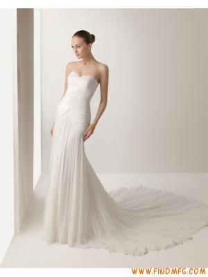 Decote em cintura de coração ruched império vestido de noiva …