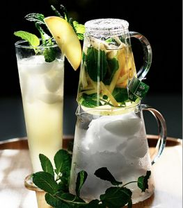 Apple Ginger Mint Ice Tea Recipe. Didn't have the mint, but was yummy without it!