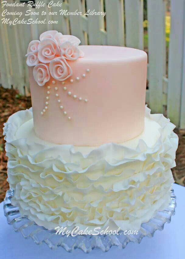 Cake Decorating Ruffles : 358 best Cake Inspiration images on Pinterest Biscuits ...