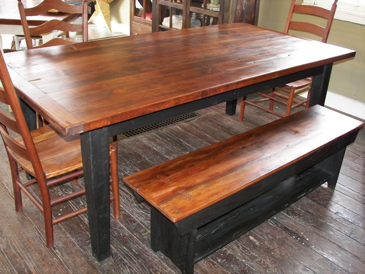 Reclaimed Barn Wood Furniture   Barn Wood Farm Table And Matching Barn Wood  Bench   Barnwood