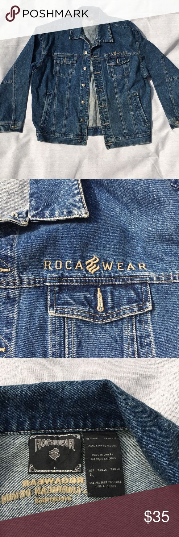 Vintage Rocawear Spell Out Denim Jacket Jacket is in Excellent condition no issues whatsoever ever! Rocawear is spelled out on the front and the back very cool Denim jacket for any occasion!    #denim #Denimjacket #vtg #vintage #vintagedenim #vintagejacket #jacket #rocawear #hiphop #hype #style #mens Rocawear Jackets & Coats