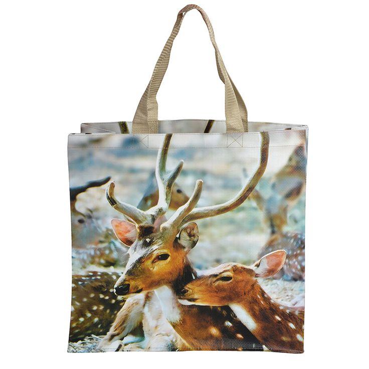 Színes bevásárló táska, őzikés mintával. Párosítsd össze táskádat egy esernyővel. Keresd a hozzá illő design esernyőt!