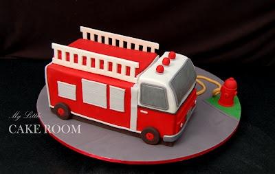My Little Cake Room: Fire truck cake
