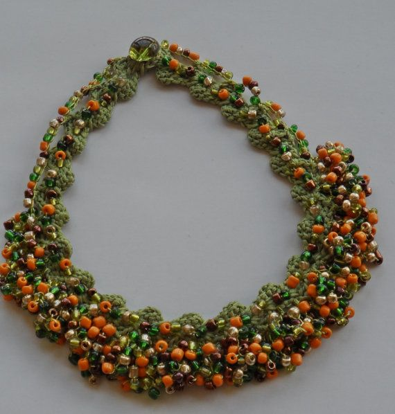 Green CheerUp Necklace Bead Necklace Summer Necklace by womanly, $18.90