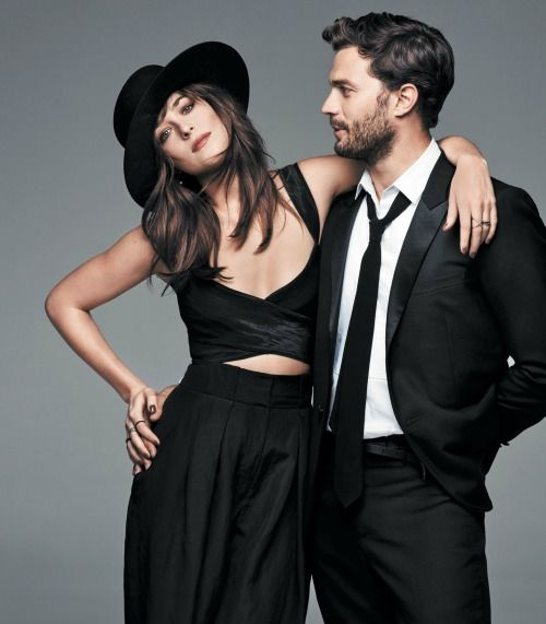 Photoshoot with Jamie Dornan and Dakota Johnson (HQ)