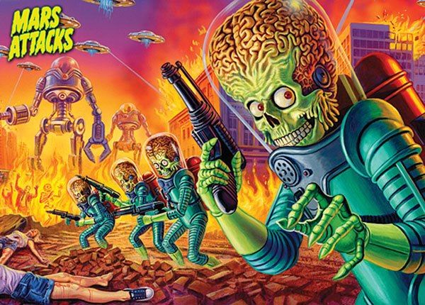 Mars Attacks Wargame Mantic Games....