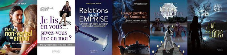 Romans, livres de développement et sur le langage corporel. Connaissez-vous ma page d'auteure? https://www.facebook.com/Annabelle.Boyer.auteur/