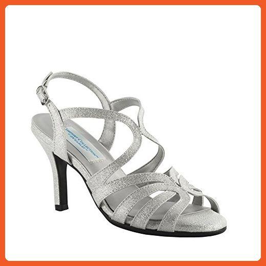 Dyeables, Inc Women's Paisley Dress Sandal, Silver, 11 W US - Sandals for